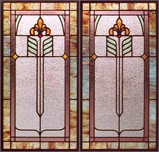 AE384 Arts & Crafts Stained Glass Windows