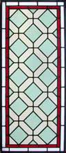 AE446 Arts & Crafts Stained Glass Window