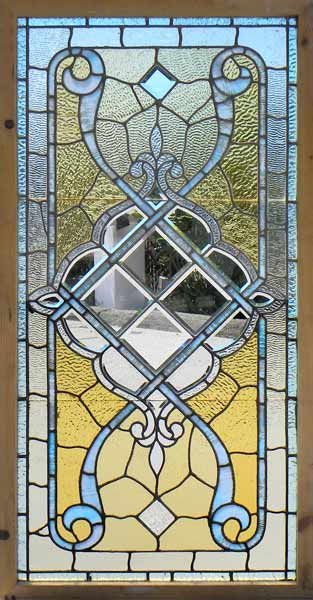 Antique stained beveled jeweled window from chicago for Victorian stained glass window film