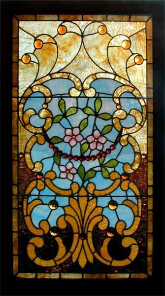 Victorian Jeweled Stained Glass Window Circa 1890 from Age of Elegance