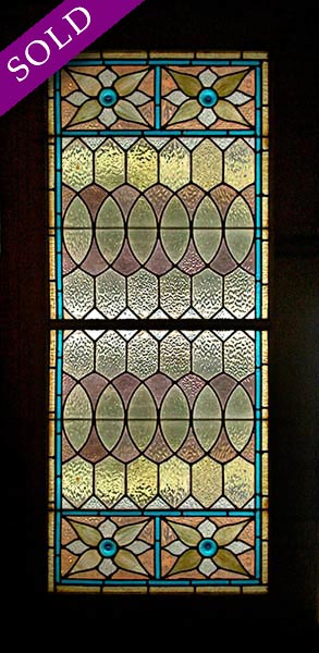 Victorian Venetian Stained Glass Window In Sliding Pocket