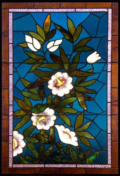 Vintage Victorian Stained Glass Window AE488